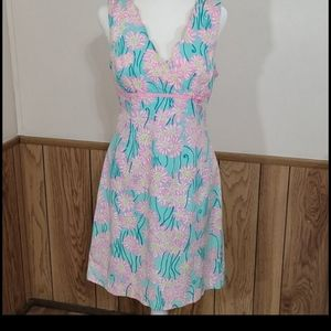 Lilly Pulitzer White Label Bliss Blue Grass Dress